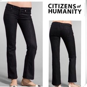 Citizens of humanity Dita Bootcut Petite In Black